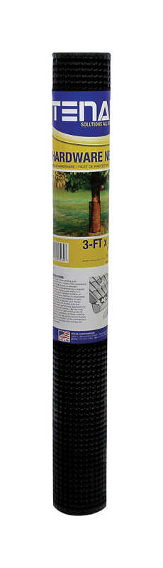 Tenax  3 in. H x 15 ft. L Polyethylene  Hardware Net  Black