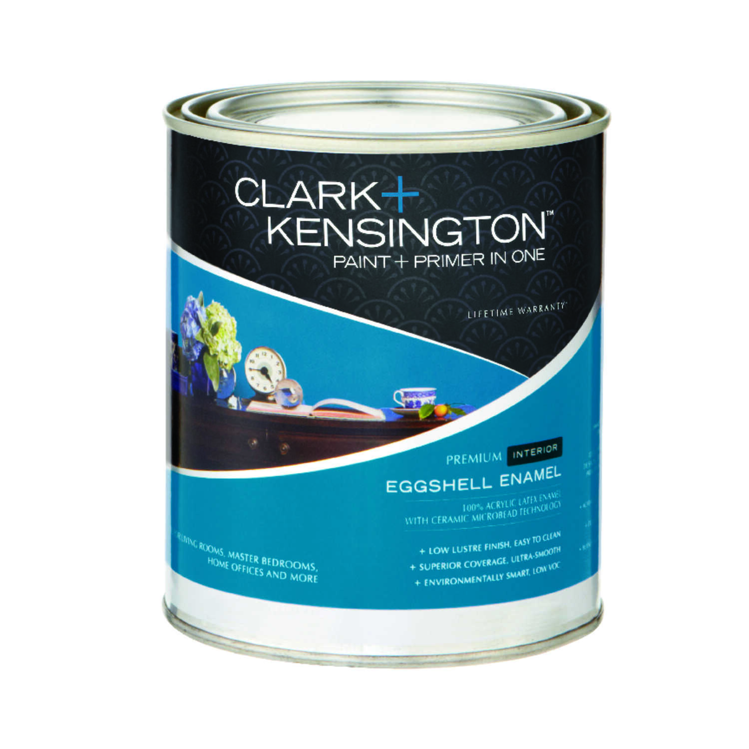 Clark+Kensington  Eggshell  Designer White  Acrylic Latex  Paint and Primer  1 qt.