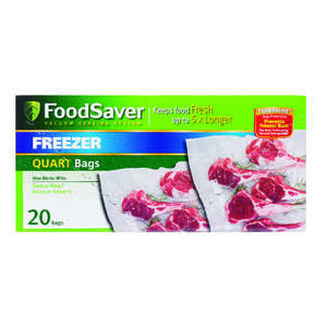Foodsaver Pre Cut Vacuum Sealer Bags 1 qt. Clear 8 in. x 11-1/2 in.