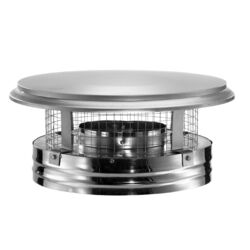 DuraVent  DuraPlus  6 in. Dia. Stainless Steel  Chimney Cap