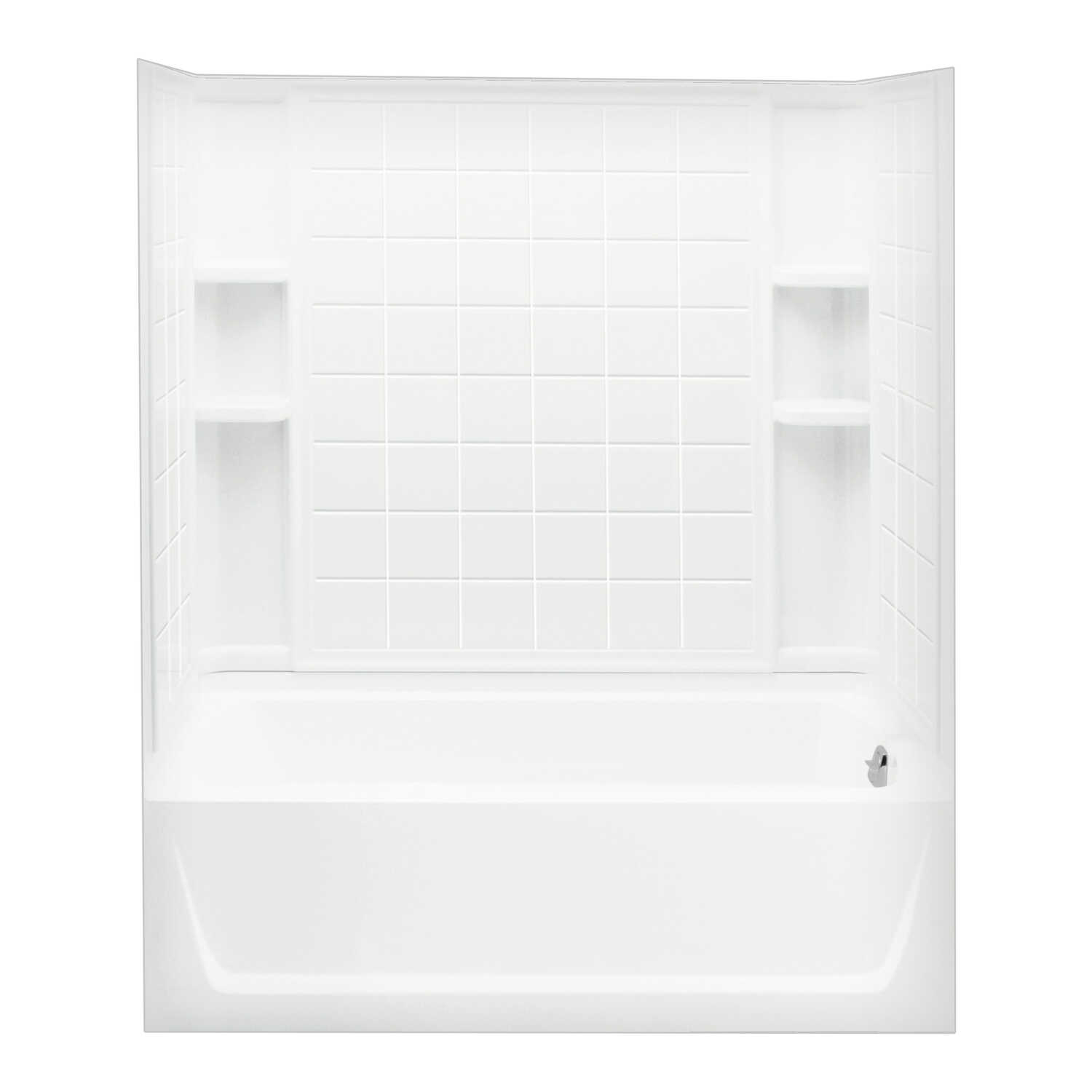 Sterling  Ensemble  55-1/4 in. H x 33-1/4 in. W x 60 in. L White  Bathtub Wall Kit  Three Piece  Rev