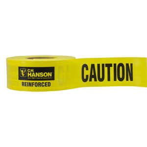 C.H. Hanson  3 in. W x 3 in. W x 500 ft. L Polyethylene  Caution  Barricade Tape  Yellow