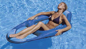 Swimways  Blue  Fabric/Mesh  Inflatable Floating Pool Mat