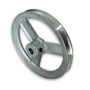 Chicago Die Cast  6 in. Dia. Zinc  Single V Grooved Pulley