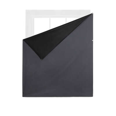 Umbra Complete Blackout Charcoal Magnetic Window Cover 48 in. W x 56 in. L