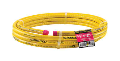 Home Flex  1/2 in.  x 25 ft. L Stainless Steel  CSST Gas Tubing