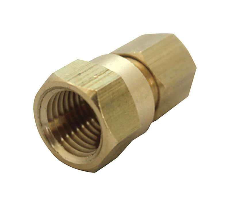 Ace  1/2 in. FPT  Dia. x 3/8 in. FPT  Dia. Brass  Compression Connector