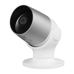 Globe  Hardwired  Indoor and Outdoor  Silver/White  Wi-Fi Security Camera