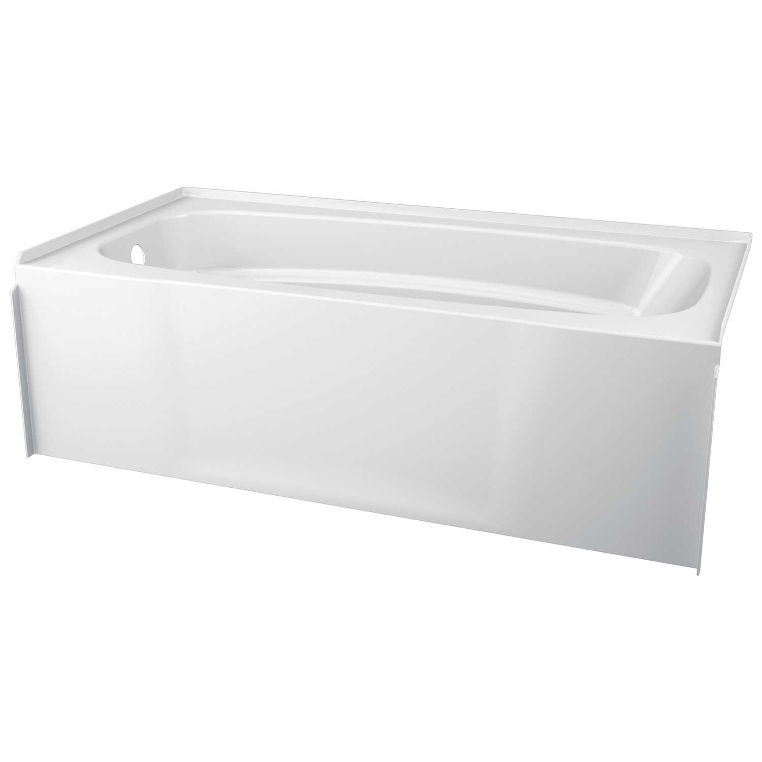 Delta  HyCroft  White  Bathtub  One Piece  Left  Rectangle