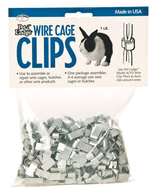 Pet Lodge  Steel  Cage Clips  Silver  8 in. H x .5 in. W x 2 in. D