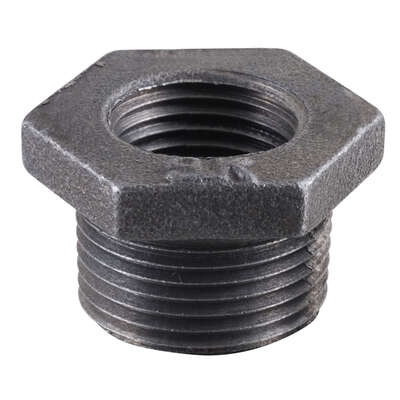 Pipe Decor  3/8 in. FIP   x 1/2 in. Dia. MPT  Black  Malleable Iron  Adapter Bushing