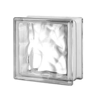 Seves  8 in. H x 8 in. W x 4 in. D Nubio  Glass Block