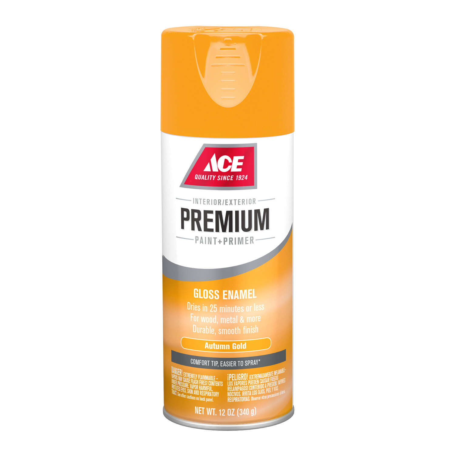 Ace  Premium  Gloss  Autumn Gold  Paint and Primer Spray Paint  12 oz.