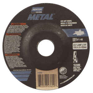 Norton  4-1/2 in. Dia. x 7/8 in.  Aluminum Oxide  Cut-Off Wheel  1 pc.