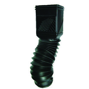 Invisaflow  2 in. W x 4 in. L Black  Downspout Filter  Plastic