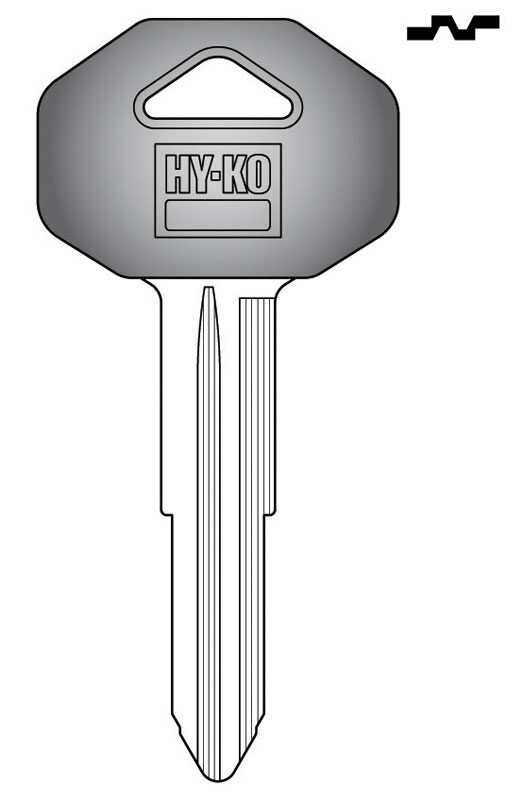 Hy-Ko  Automotive  Key Blank  EZ# MIT1P  Double sided For Fits Many 2000 And Older Ignitions