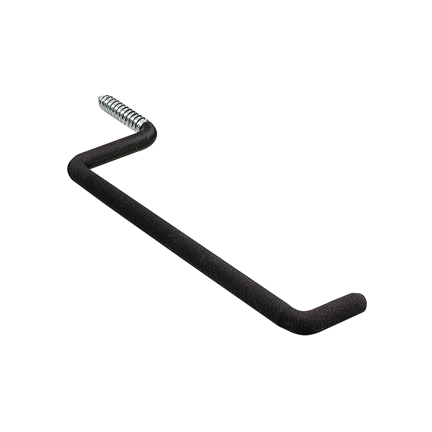 Crawford 7 in. L Vinyl Coated Black Steel Large Ladder Hook 50 lb. capacity 1 pk