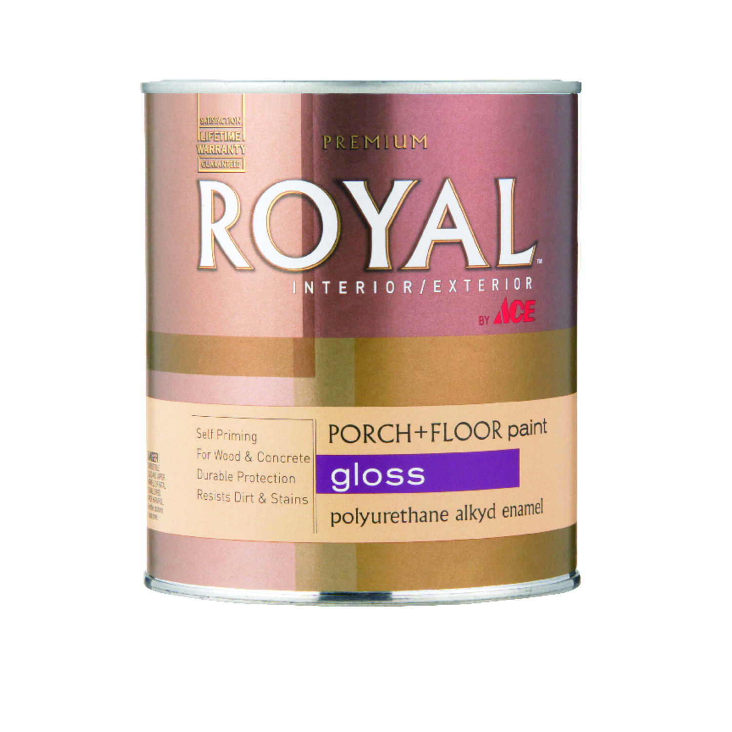 Ace  Royal  Gloss  White  Porch & Floor Paint  1 qt. Gloss
