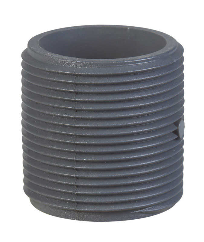 BK Products  Schedule 80  1-1/4 in. MPT   x 1-1/4 in. Dia. MPT  PVC  For Pressure Applications Pipe
