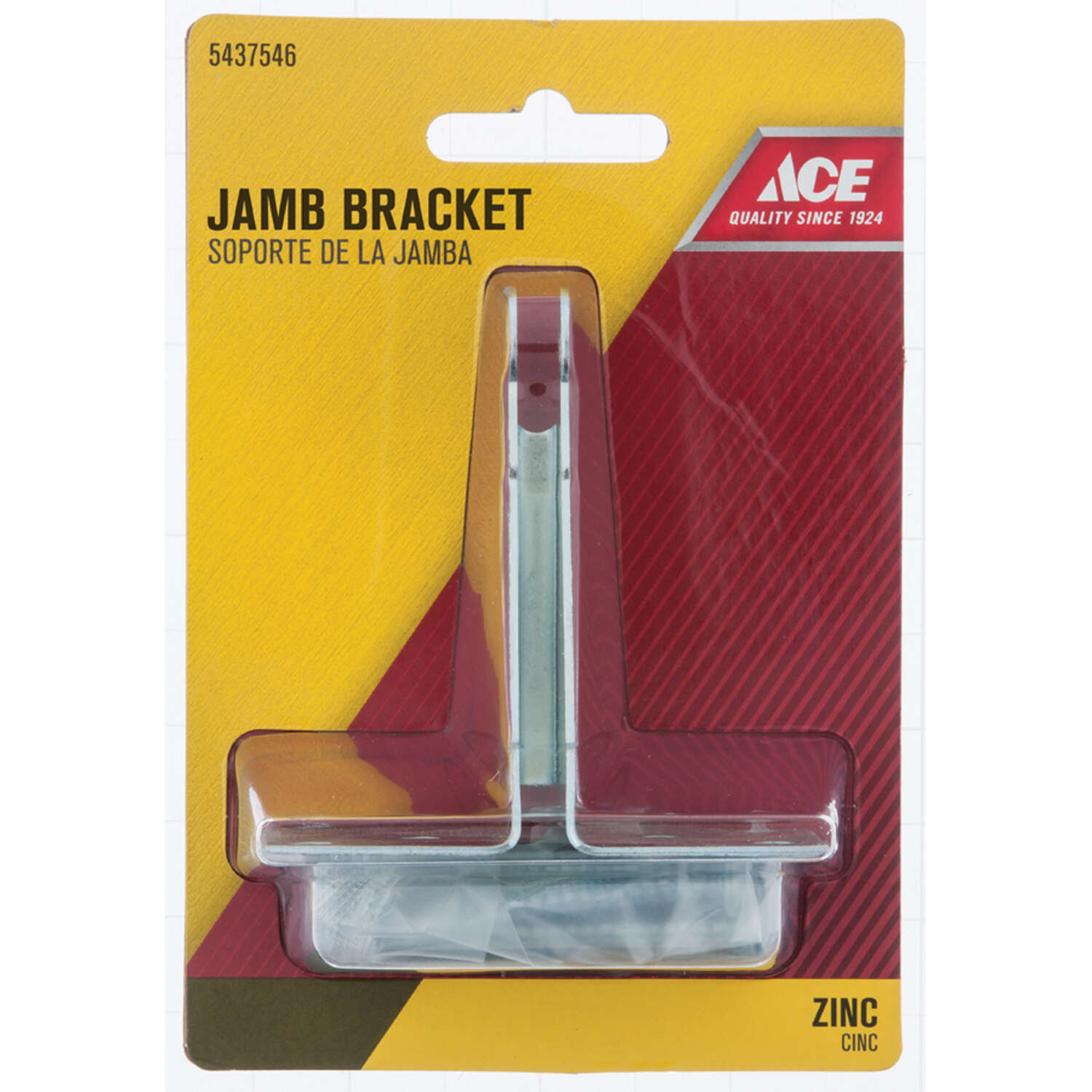 Ace  Aluminum  Silver  Steel  Jamb Bracket  1 pc.