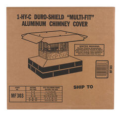 Duro-Shield  Galvanized  Aluminum  Chimney Cap
