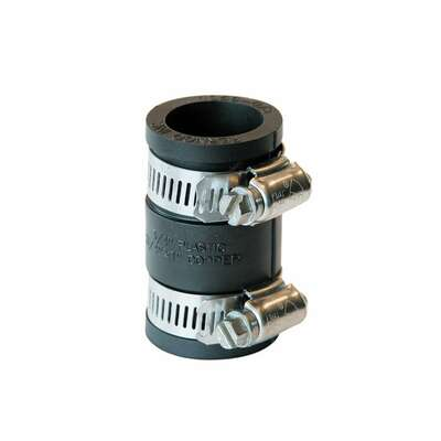 Fernco  3/4 in. Hub   x 3/4 in. Dia. Hub  Flexible Coupling