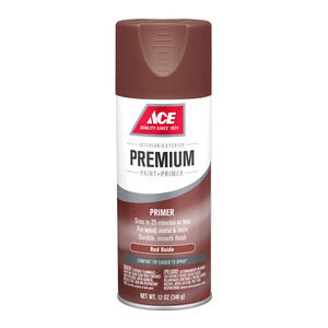 Ace  Premium  Smooth  Red Oxide  Enamel Primer Spray Paint  12 oz.