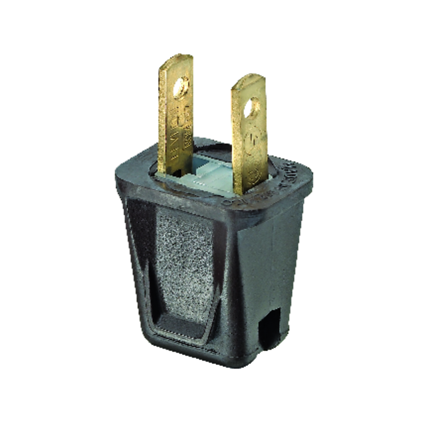 Leviton  E-Z  Commercial and Residential  Thermoplastic  Non-Polarized  Plug  1-15P  20-18 AWG 2 Pol