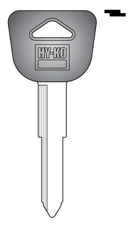 Hy-Ko  Automotive  Key Blank  EZ# HD90P  Double sided For Fits Many 1990 Ignitions