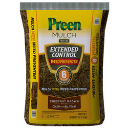 Preen Extended Control Chestnut Brown Weed Preventer Mulch 2 cu. ft.