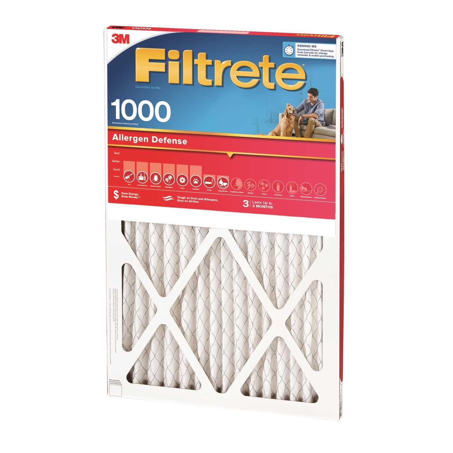 3M  Filtrete  30 in. H x 20 in. W x 1 in. D 11 MERV Air Filter
