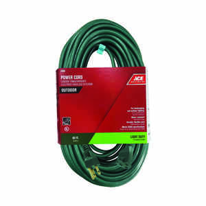 Ace  Outdoor  80 ft. L Green  Extension Cord  16/3 SJTW