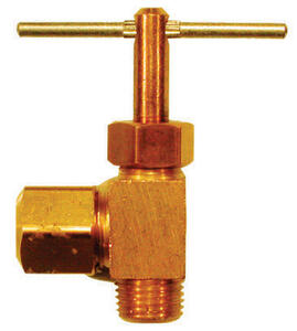 Ace  1/4 in.  x 1/8 in.  Brass  Needle Valve
