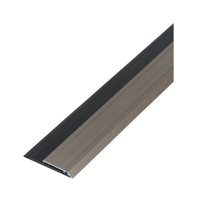 M-D Building Products  Silver  Aluminum/Vinyl  3 ft. L x 3/8 in.  Weather Stripping  For Door Sweep