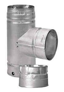 DuraVent  3 in.  x 3 in.  x 3 in.  Galvanized Steel  Stove Vent Single Tee