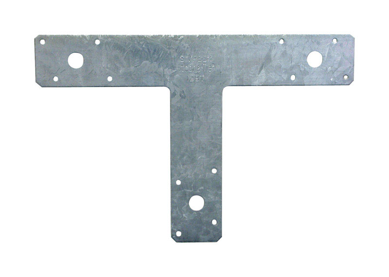 Simpson Strong-Tie  8 in. H x 12 in. W Galvanized Steel  T Strap  14 Ga.