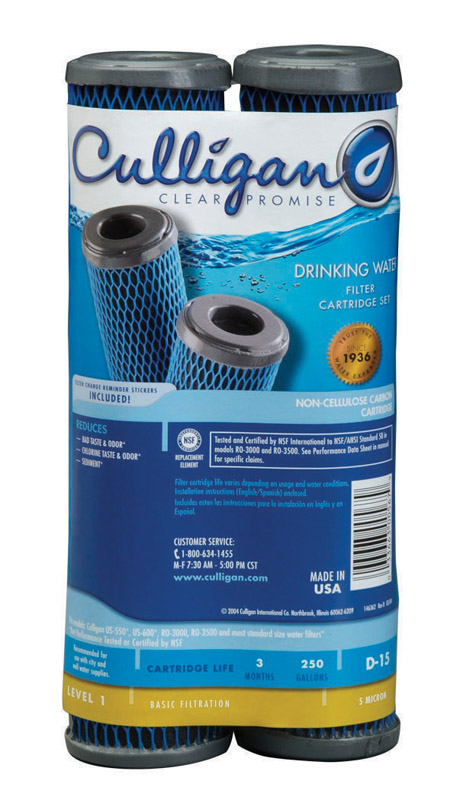 Culligan  Clear Promise  Water Filter  For Under Sink 250 gal.