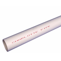 Charlotte Pipe  Schedule 40  PVC  Pressure Pipe  1 in. Dia. x 10  L Plain End  450 psi