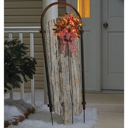Celebrations  Sleigh  Outdoor Decor  Brown  Wood  1 pk