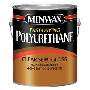 Minwax  Semi-Gloss  Clear  Fast-Drying Polyurethane  1 gal.