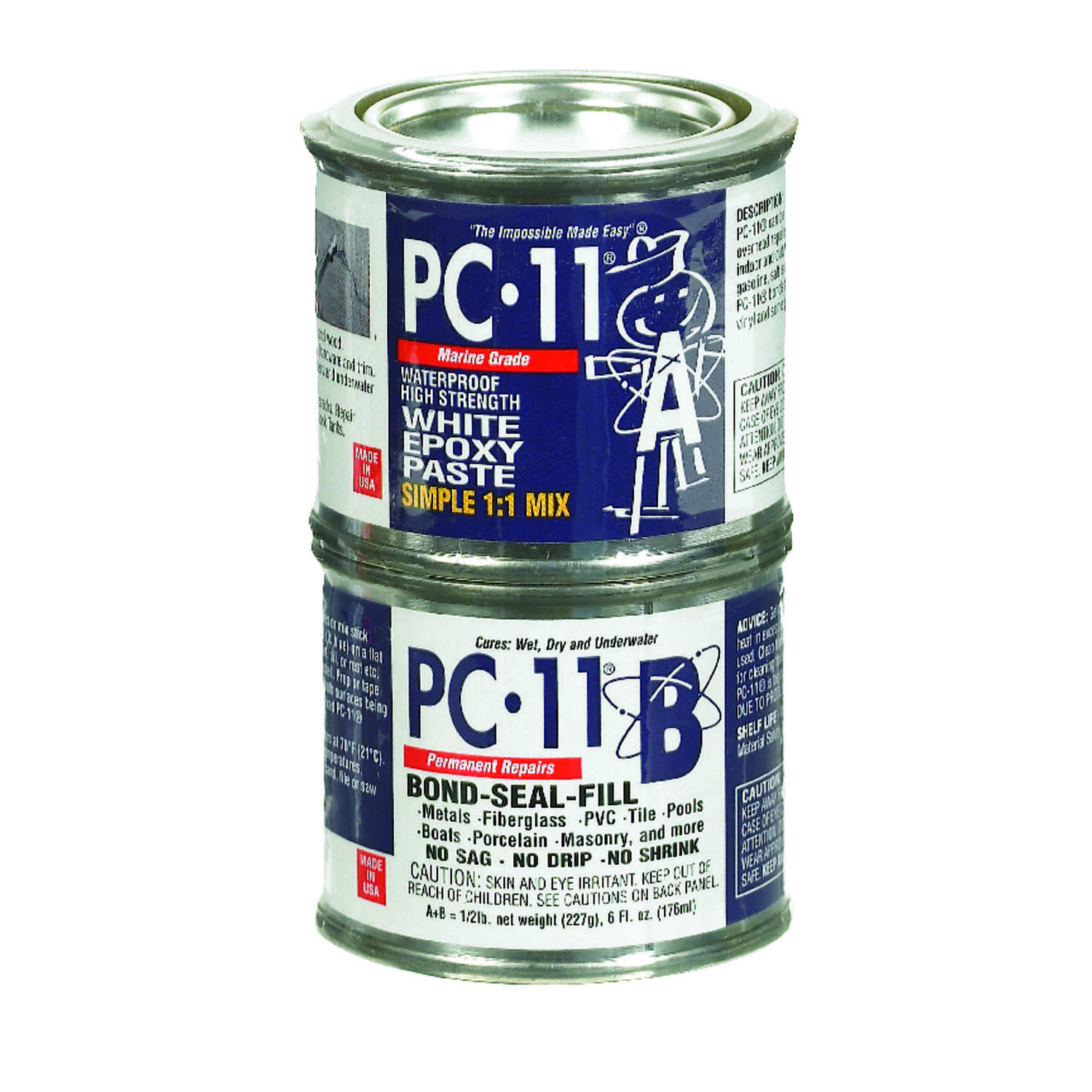 PC-11  Marine All Purpose  High Strength  Epoxy  6 oz.