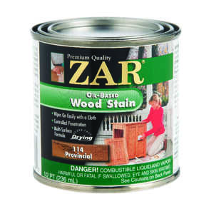 ZAR  Semi-Transparent  Smooth  Provincial  Oil-Based  Wood Stain  1/2 pt.