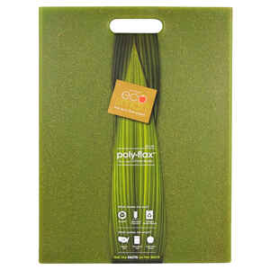 Ecosmart by Architec  12 in. W x 16 in. L Green  Poly-Flax  Cutting Board  Natural