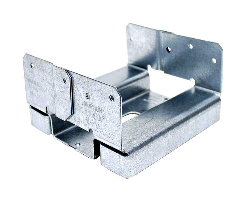 Simpson Strong-Tie  ZMAX  3.13 in. H x 5.5 in. W 14 Ga. Galvanized Steel  Post Base