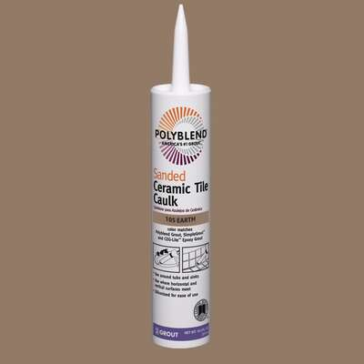 Custom Building Products  Polyblend  Earth  Siliconized Acrylic  Caulk  10.5 oz.