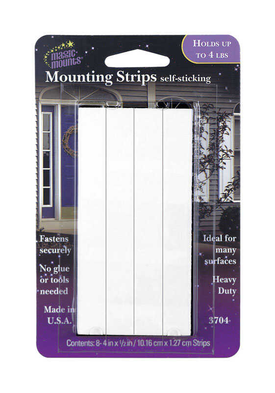 Magic Mounts  Self Stick  Metal  Mount Strip  4 lb. 8 pk Adhesive