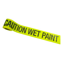 C.H. Hanson  200 ft. L x 3 in. W Plastic  Caution Wet Paint  Barricade Tape  Yellow