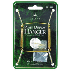 Tripar  5 in. to 7 in.  Brass  Plate Hanger  1 pk