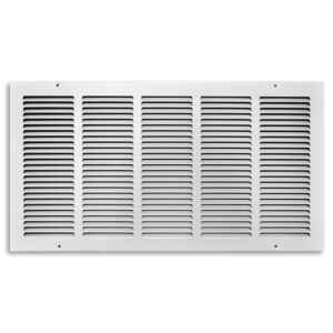 Tru Aire  12 in. H x 24 in. W 1-Way  Powder Coat  White  Steel  Return Air Grille