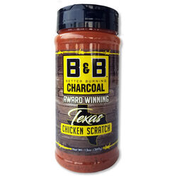 B&B Charcoal Texas Chicken Scratch Seasoning Rub 13 oz.